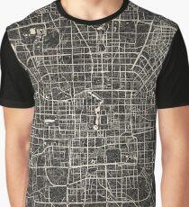 Beijing map ink lines Graphic T-Shirt