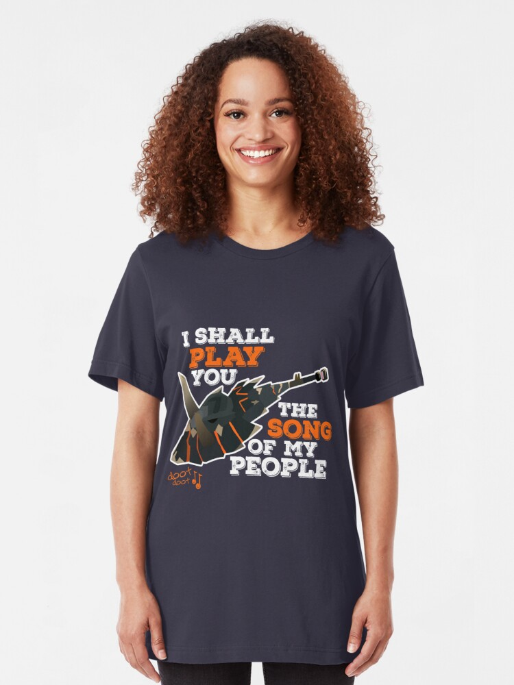 I Shall Play You The Song of My People - Monster Hunter | Slim Fit T-Shirt