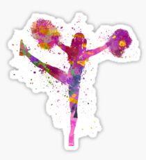 young woman cheerleader 04 Sticker