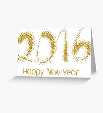 Happy New Year 2016 or Greeting Card