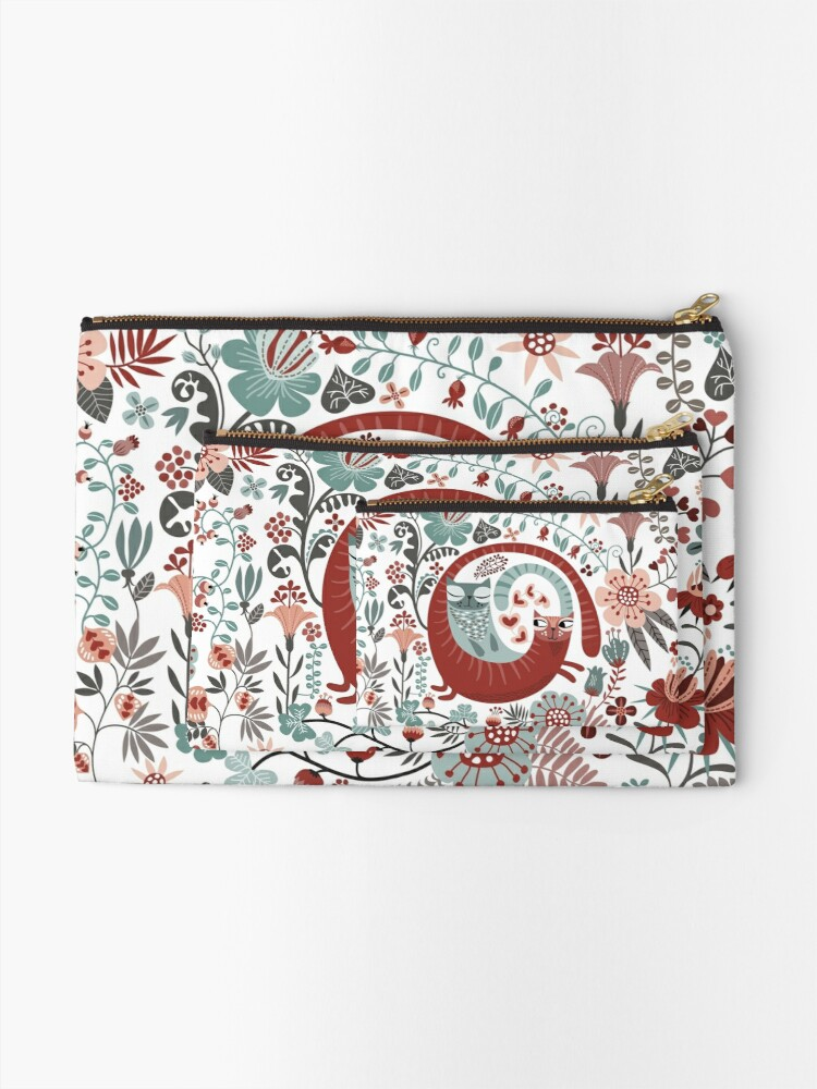 Alternate view of Love cats Zipper Pouch