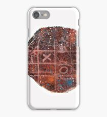 Noughts and crosses on the fish, orange, blue, red, white, black iPhone Case/Skin