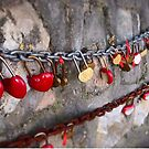 Love locks on the Great Wall of China by Candy Jubb
