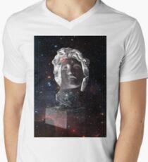 Space face Men's V-Neck T-Shirt