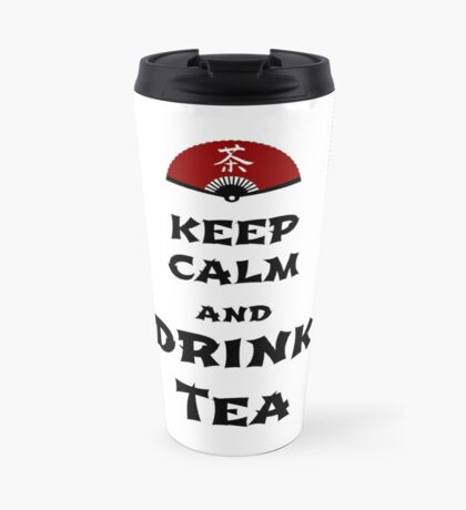 keep calm and drink tea Thermosbecher