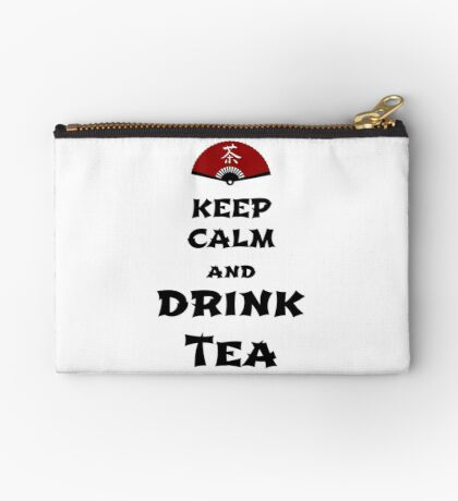 keep calm and drink tea Studio Pouch
