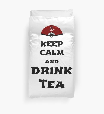 keep calm and drink tea Bettbezug