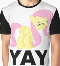 'Yay'-fluttershy decal Graphic T-Shirt