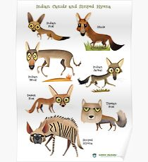 Canids of India Poster