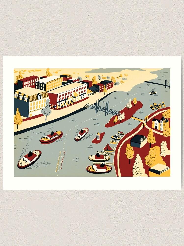 Alternate view of Portsmouth & Kittery Art Print