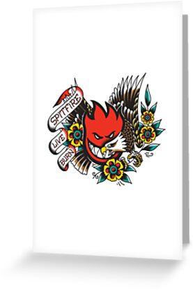 Spitfire live burn greeting cards by bloodymanson redbubble spitfire live burn by bloodymanson m4hsunfo