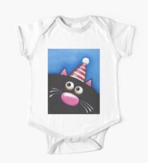 Party Cat in a red hat One Piece - Short Sleeve