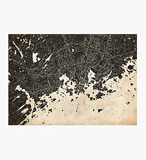 Helsinki map ink lines Photographic Print