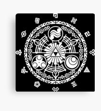 Zelda Time Portal Minimal Design Skyward Sword Black Version Canvas Print