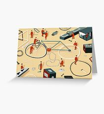 Bicycle building Greeting Card