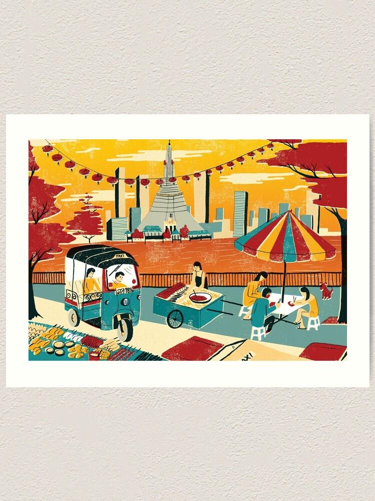 Alternate view of Bangkok Art Print