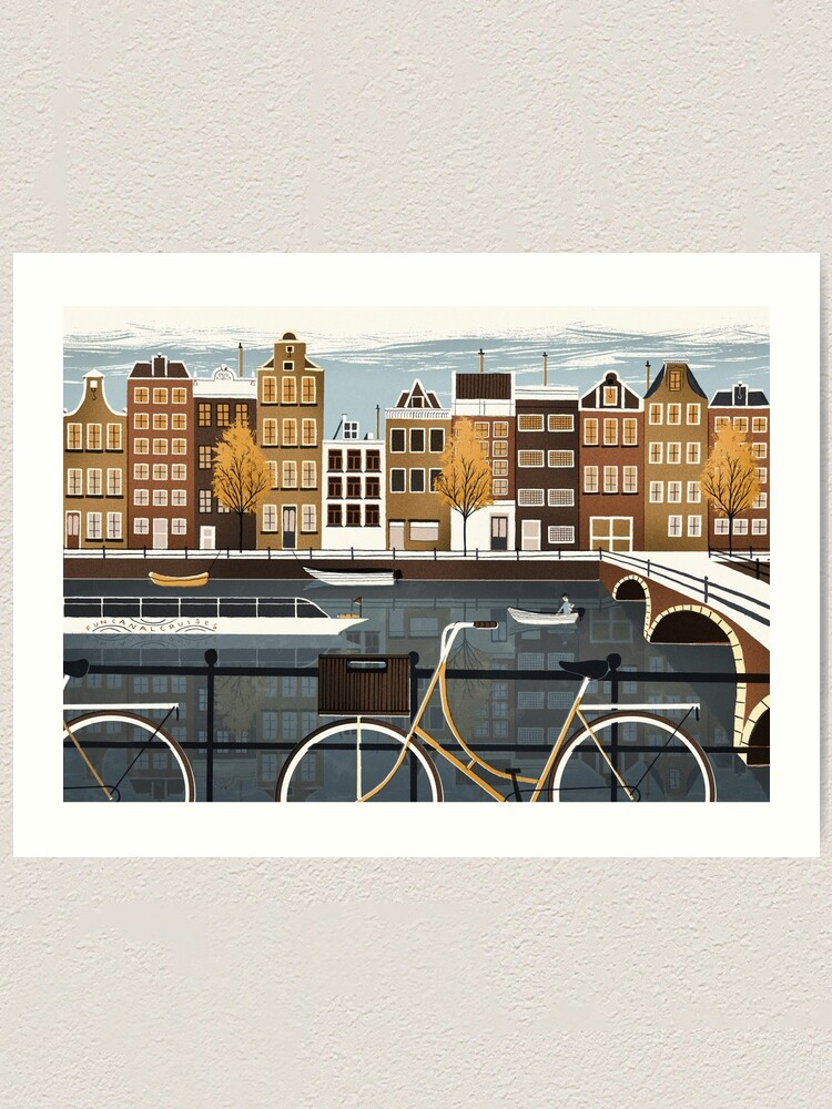 Alternate view of Amsterdam Art Print