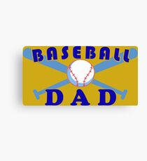 Baseball dad Canvas Print