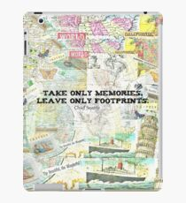 Travel Chief Seattle inspirational ecology quote iPad Case/Skin