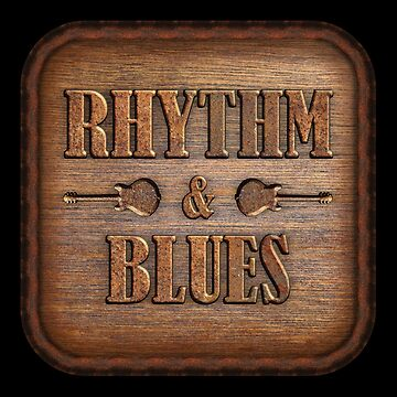 Wonderful Rhythm & Blues Wood And Rust Sign by adlirman