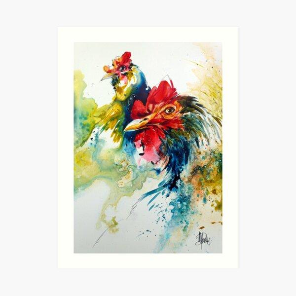 Poulettes bleues Art Print