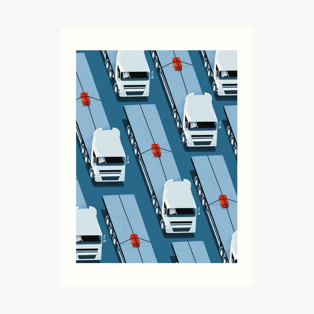 Tiny Delivery Art Print