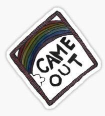 Came Out Achievement Badge Sticker