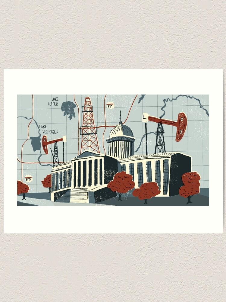 Alternate view of Oklahoma City Art Print