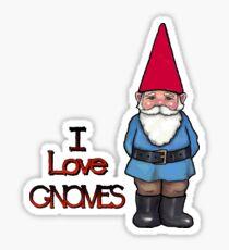 I Love Gnomes: Cute Hand Drawn Gnome Sticker