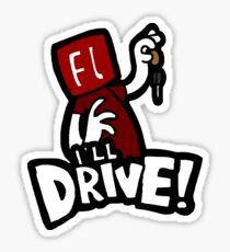Flash will drive! Sticker