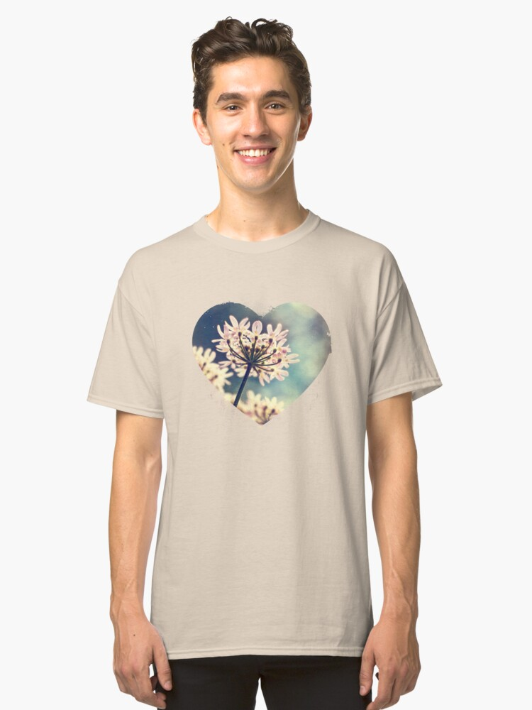 Queen Annes Lace flowers Classic T-Shirt Front