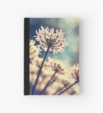 Queen Annes Lace flowers Hardcover Journal