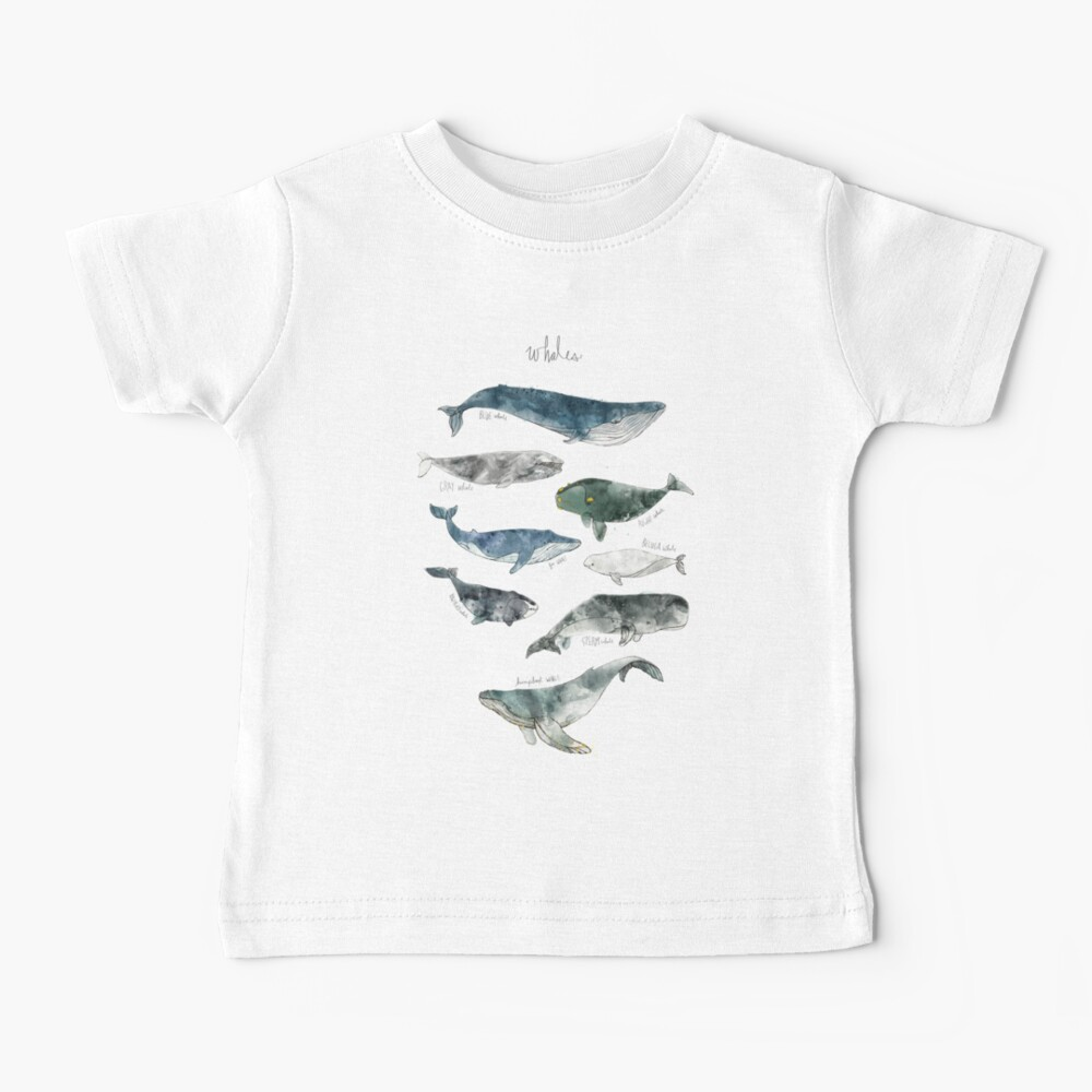 Ballenas Camiseta para bebés