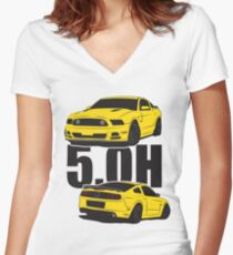 5.Oh Stang Fitted V-Neck T-Shirt