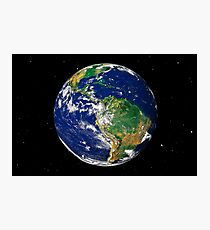 Full Earth showing South America (with stars). Photographic Print