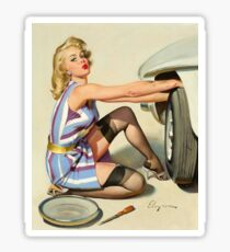 Gil Elvgren Appreciation T-Shirt no. 02 Sticker