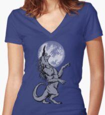 The Behemoth - Monochromatic Women's Fitted V-Neck T-Shirt