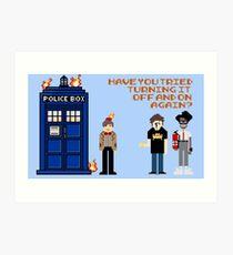 Doctor Who Calls IT Crowd  Art Print