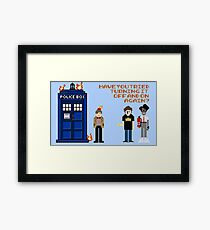 Doctor Who Calls IT Crowd  Framed Print