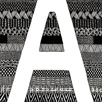 Letter A by Alabaster-Ink