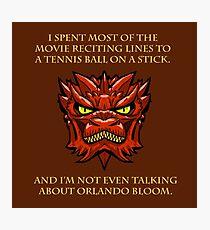 Smaug Quotes-Colbert Report- Orlando Bloom Photographic Print