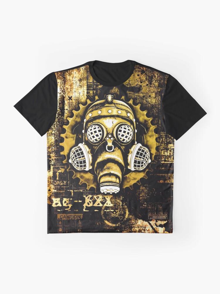 Alternate view of Steampunk / Cyberpunk Gas Mask Graphic T-Shirt