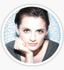 Stana Katic circle Sticker