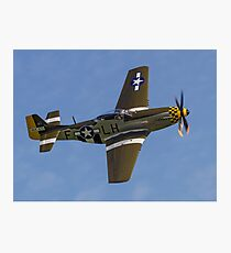 """P-51D Mustang 45-15118 G-MSTG """"Janie"""" Photographic Print"""