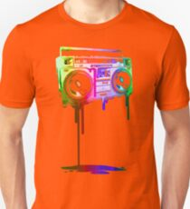 Melting Boombox (digital rainbow color) Unisex T-Shirt