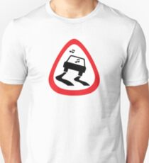 Guitar Pick / Plectrum: Traffic sign slippery road Unisex T-Shirt