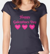 Parks & Rec: Galentines Day  Women's Fitted Scoop T-Shirt