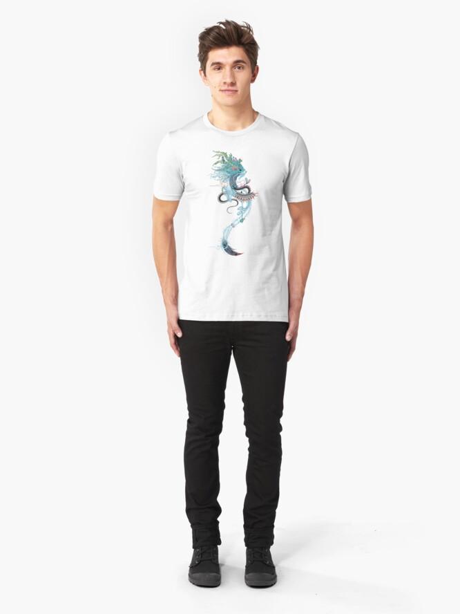 Vista alternativa de Camiseta ajustada Espíritu de viaje (armiño)