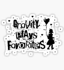 gravity plays favorites Sticker