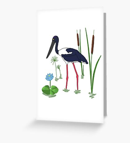 JABIRU - Black-Necked Stork Greeting Card